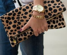 Love this animal print clutch!