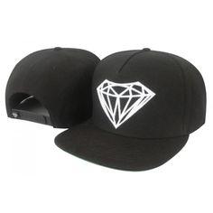 Diamond Supply Big Rock Snapback Hat (Black)