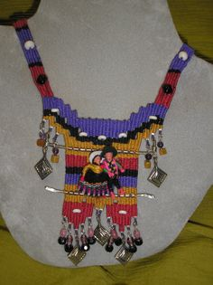 Mexican Worry Dolls Woven Necklace and many other beautiful pieces can be bought on Etsy