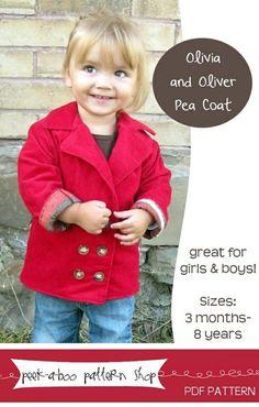 Olivia & Oliver Boys/Girls Jacket 3m - 8y PDF Pattern