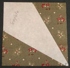 Tutorial Part 1      From a scrap of stiff stablizer cut a square. The size can be of your choosing. For this tutorial, I'm using a 6 1/2 i...