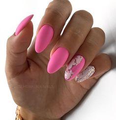 nail art designs easy amazing nail art ideas that will inspire you 2020 beautiful nails Pink Nail Art, Pink Nails, Short Nail Designs, Nail Art Designs, Cute Nails, Pretty Nails, Hair And Nails, My Nails, Acryl Nails