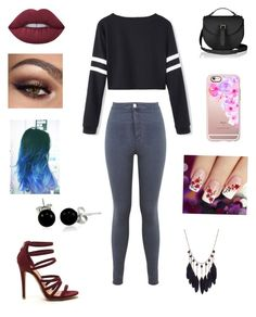 """""""Untitled #12"""" by erin-alpert ❤ liked on Polyvore featuring Miss Selfridge, Lime Crime, Casetify and Bling Jewelry"""