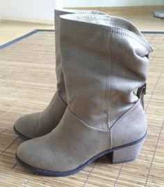 These are for sale. beige suede, Used once, indoors. Dream Shoes, Wedges, Boots, Fashion, Crotch Boots, Moda, Fashion Styles, Shoe Boot, Fashion Illustrations