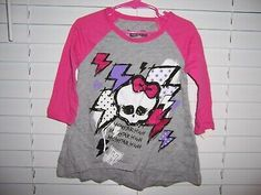 Monster High Girl's Shirt Size XS #fashion #clothing #shoes #accessories #kids #girls (ebay link) Athletic Pants, Monster High, Shirts For Girls, Kids Girls, Tutu, Link, Skirts, Clothing, Accessories