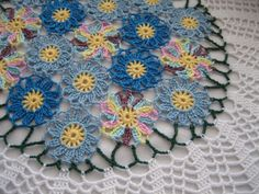Hand CrochetedSpring Doily NEW made by DEMET by DEMET on Etsy