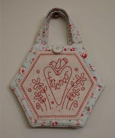 redwork embroidery--cute gift idea!