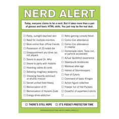 Knock Knock Nerd Alert Nifty Notepads | Free Ship $35+