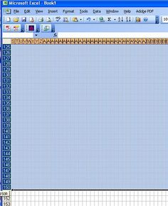 How to Make a Knitting Chart in Excel. Excel is also great for when you have a really long and complicated pattern to write out a chart of each row and tick them off as you go!