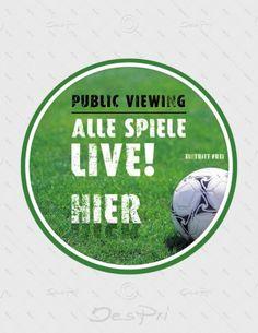 Aufkleber - Fussball - Public Viewing, rund, A-FP-0005 | Sport | Aufkleber | Werbedesigns | Despri