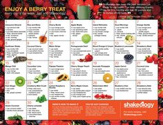Are you looking to spice up your daily dose of nutrition? Check out these Shakeology recipe calendars. Giving you 30 days of amazing recipes. Greenberry Shakeology, Beachbody Shakeology, Chocolate Shakeology, Buy Shakeology, Shakeology Cleanse, Vanilla Shakeology, Best Shakeology Recipes, Strawberry Shakeology Recipes, Smoothie Recipes