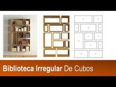 Diseño De Muebles Madera: Construir Biblioteca De Cubos Irregulares