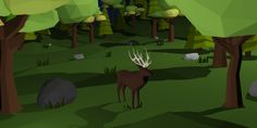 ArtStation - Low Poly Forest, Stef Bow