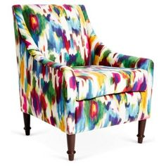 Check out this item at One Kings Lane! Holmes Armchair, Aurora Multi Love print... But too expensive