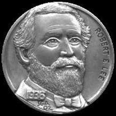 STEVE ADAMS HOBO NICKEL - ROBERT E. LEE - 1936 BUFFALO NICKEL Steve Adams, Hobo Nickel, Coin Art, Coin Collecting, Famous People, Buffalo, Coins, Carving, Artist