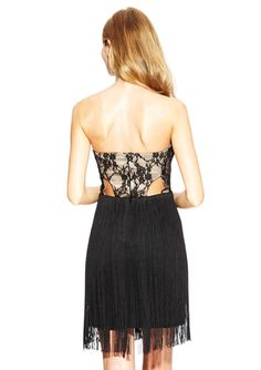 ARK & CO. Strapless Lace Overlay Dress