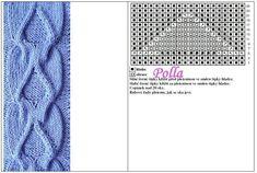 Cable Knitting Patterns, Knitting Charts, Knitting Stitches, Stitch Patterns, Crochet, Flowers, Knit Patterns, Knits, Dots