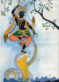 Dancing Krishna - Painting by Vishakha Kumari at touchtalent