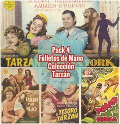 OFERTON Pack 4 Folletos Cine Colección Tarzán | La Trastienda Antigua
