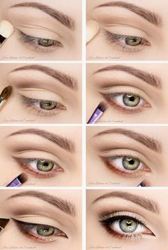 eye makeup for brown eyes ; eye makeup for blue eyes ; eye makeup tips ; eye makeup for green eyes Natural Eye Makeup, Eye Makeup Tips, Makeup Hacks, Skin Makeup, Makeup Inspo, Makeup Inspiration, Beauty Makeup, Makeup Ideas, Day Eye Makeup