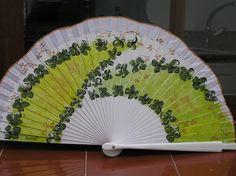 Hand Fans, Hands, Painted Fan, Accessories, Blue Prints, Hand Fan
