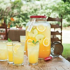 Apple Julep Recipe ~ apple juice, pineapple juice, orange juice, and lemon juice. Perfect for showers, receptions, birthday parties and so on; great recipe!!