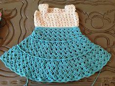 Annoo's Crochet World: Toddler Summer Vintage Dress Free Pattern