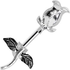Stainless Steel Sprouting Tulip Belly Ring #bellyring #bodycandy