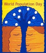 11.Juli: Weltbevölkerungstag!    Am 11. Juli 1987 überschritt die Weltbevölkerung die Zahl von fünf Milliarden Menschen. Um auf die damit verbundenen Probleme aufmerksam zu machen, wurde dieser Tag zum Weltbevölkerungstag erklärt.