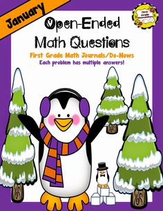 January Open-Ended Math Questions for Journals or Do-Nows (First Grade) Math Journal Prompts, Math Journals, 1st Grade Math, First Grade, Grade 1, Second Grade, Counting In 5s, Poetry For Kids, Math Classroom