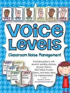 Do you struggle with chatterboxes this year? Is it a challenge to have kids use voices other than on or off? This Voice Levels Classroom Noise Management Packet can help!Included in this packet are loads of helpful resources:- Level 0-5 posters (several wording versions to suit your style)- One comprehensive poster (three versions & EDITABLE PowerPoint version where you can type in your own descriptors)- Anchor charts to help teach your students the difference between each voice level- Bl...