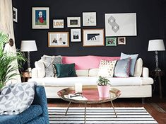 ie contains Real Homes, Advice, Ideas and Inspirations, Directories for you and you perfect home! Colourful Living Room, You Are Perfect, Beautiful Interiors, Colorful Decor, Second Floor, House Colors, Get The Look, Photo Wall, Gallery Wall