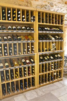 Nice wall display for your wine storage