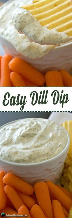 Easy Dill Dip Recipe from dishesanddustbunnies.com