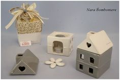 Bomboniere Claraluna casetta diffusore con t-light e pasticca profumata