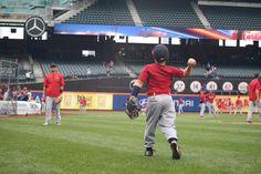 Yadi & son playing catch