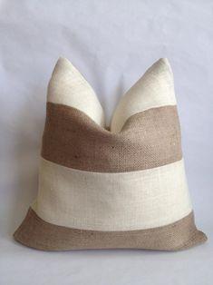Handmade Pillow Covers, Handmade Pillows, Decorative Pillows, Aqua Throw Pillows, Burlap Pillows, Burlap Living Rooms, Living Room Decor, Cool Curtains, Pillow Fight