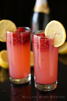 #Drink #Recipe / Raspberry Lemonade Champagne S...