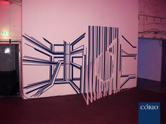 commercial live tape art performance for Corio Event in Berlin  title