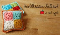 Pincushion tutorial in German by A red apple.