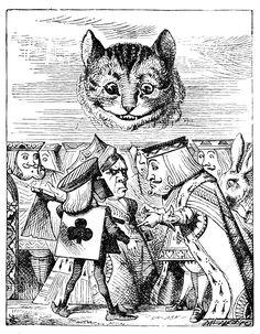 Famous Cats: the Cheshire Cat #CheshireCat #AliceInWonderland #LewisCarroll