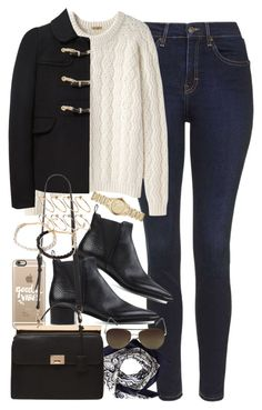 """Outfit with a duffle coat and Chelsea boots"" by ferned on Polyvore featuring Topshop, Peter Jensen, Mulberry, Valentino, Acne Studios, Burberry, Casetify, Vince Camuto, Forever 21 and ASOS"