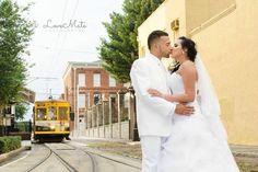 Wedding - kiss - photographer - central Florida photographer - Tampa bride - Orlando bride - LoveMatePhotography .com ybor city