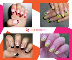 No doubt, French nails are classy.  Add your glam touch and make your version of the French nails.