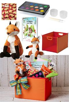Holiday Gift Baskets Made Easy by IKEA - Start by picking a theme, like an animal adventure for children, and add a variety of treats and play items to create a fun and complete experience. All they have to do is enjoy!