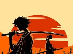 Wallpaper of anime jin katana mugen samurai champloo sword. Samurai Anime, Afro Samurai, Samurai Warrior, Cowboy Bebop, Manga Anime, Anime Art, Wallpaper Samurai, Awesome Anime, Anime Love