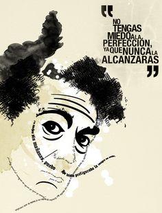 Salvador Dalí No tengas miedo a la perfección porque nunca la alcanzaras... Triste... pero cierto. Sobre todo para mi que por una cosa minuscula... me estreso...xD