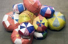 Carol Sogard Plastic Bag Poufs