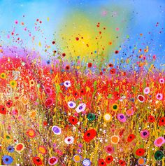 Yvonne Coomber The Brownstone Gallery, Devon, UK and 4 more very like, all charming! Arte Pop, Painting Inspiration, Art Lessons, Painting & Drawing, Flower Art, Art Projects, Art Photography, Illustration Art, Illustrations