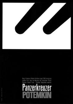 "Gorgeous minimalistic movie poster for 1925 silent film ""Battleship Potemkin"". Communication Design, Silent Film, Modern Graphic Design, Illustrations And Posters, Battleship, Poster Making, Icon Design, Typography, Movie Posters"